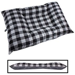 shop JUMBO Bizzy Beds® Dog Bed with Zipper -- Buffalo Black / Gray Two-Tone