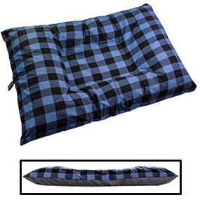 shop JUMBO Bizzy Beds® Dog Bed with Zipper -- Buffalo Blue / Gray Two-Tone
