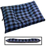 JUMBO Bizzy Beds® Dog Bed with Zipper -- Buffalo Blue / Gray Two-Tone