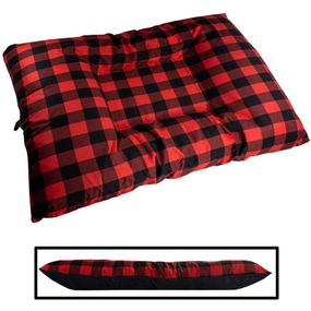 shop JUMBO Bizzy Beds™ Dog Bed with Zipper -- Buffalo Red / Black Two-Tone