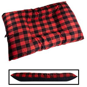 shop JUMBO Bizzy Beds® Dog Bed with Zipper -- Buffalo Red / Black Two-Tone