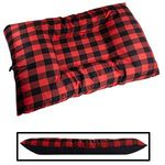 JUMBO Bizzy Beds® Dog Bed with Zipper -- Buffalo Red / Black Two-Tone
