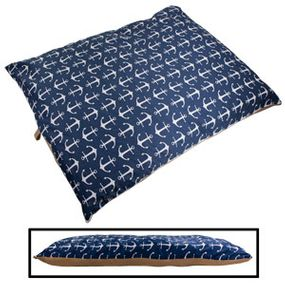 shop JUMBO Bizzy Beds™ Pillow Bed -- Blue Anchor / Tan Two-Tone