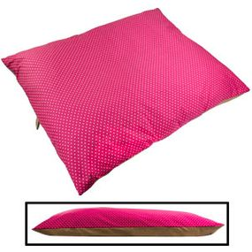 shop JUMBO Bizzy Beds® Pillow Bed -- Pink Polka Dot / Tan Two-Tone