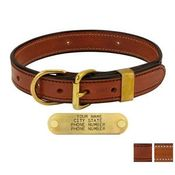 shop K-9 Komfort 1 in. Deluxe Leather D-end Collars