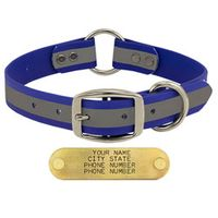 shop BLUE 1 in. TufFlex Reflective Center Ring Dog Collar