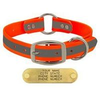 shop ORANGE 1 in. TufFlex Reflective Center Ring Dog Collar