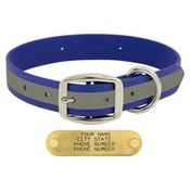shop BLUE 1 in. TufFlex Reflective Standard Dog Collar