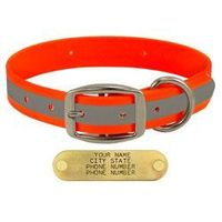 shop ORANGE 1 in. TufFlex Reflective Standard Dog Collar