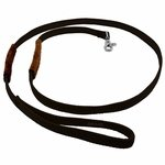 shop K-9 Komfort 6 ft Nylon Lead with Leather Handle black