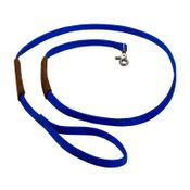 shop K-9 Komfort 6 ft Nylon Lead with Leather Handle Blue