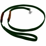 shop K-9 Komfort 6 ft Nylon Lead with Leather Handle Green
