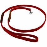shop K-9 Komfort 6 ft Nylon Lead with Leather Handle Red