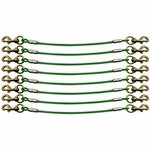 shop K9 Komfort 8-Dog Cable Gang Green Leads