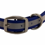 shop Blue TufFlex Reflective Collar Buckle Detail