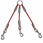 shop K9K Cable Couple -- 3 Dog Red