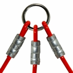 shop K9K Cable Couple -- 3 Dog Ring Detail