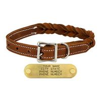 shop 3/4 in. Woven Leather Dog Collar