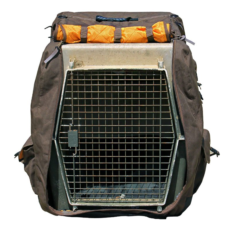 Kennel Cover Front Flap Opened