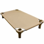 shop Large 40 in. x 30 in. Rectangle Premium Weave Dog Cot by 4Legs4Pets