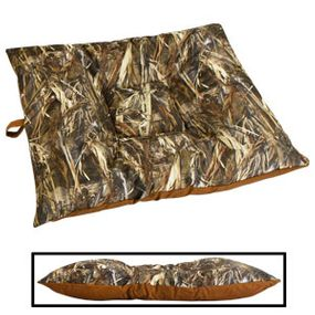 shop LARGE Bizzy Beds® Dog Bed with Zipper -- True Timber DRT Camo / Brown Two-Tone