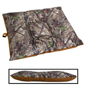 shop LARGE Bizzy Beds® Dog Bed with Zipper -- True Timber HTC Camo / Brown Two-Tone