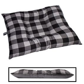 shop LARGE Bizzy Beds® Dog Bed -- Buffalo Black / Gray Two-Tone