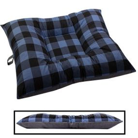 shop LARGE Bizzy Beds® Dog Bed -- Buffalo Blue / Gray Two-Tone