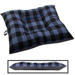 LARGE Bizzy Beds® Dog Bed -- Buffalo Blue / Gray Two-Tone