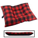 LARGE Bizzy Beds™ Dog Bed -- Buffalo Red / Black Two-Tone