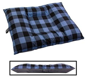 shop LARGE Bizzy Beds™ Dog Bed with Zipper -- Buffalo Blue / Gray Two-Tone