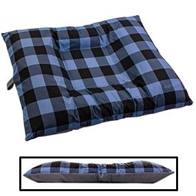 shop LARGE Bizzy Beds® Dog Bed with Zipper -- Buffalo Blue / Gray Two-Tone