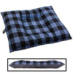 LARGE Bizzy Beds® Dog Bed with Zipper -- Buffalo Blue / Gray Two-Tone