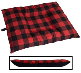 shop LARGE Bizzy Beds™ Dog Bed with Zipper -- Buffalo Red / Black Two-Tone