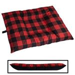 LARGE Bizzy Beds® Dog Bed with Zipper -- Buffalo Red / Black Two-Tone