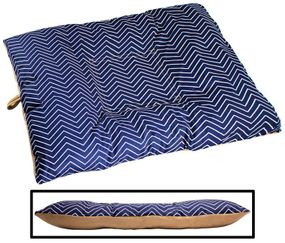 shop LARGE Bizzy Beds™ Dog Bed with Zipper -- Chevron / Tan Two-Tone