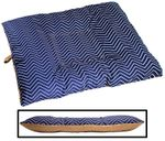 LARGE Bizzy Beds™ Dog Bed with Zipper -- Chevron / Tan Two-Tone