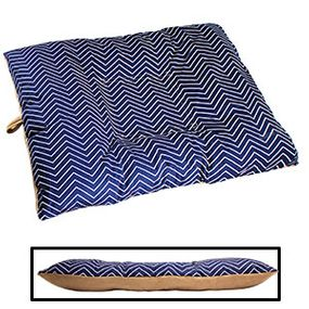 shop BLOWOUT SALE -- LARGE Bizzy Beds® Dog Bed with Zipper -- Chevron / Tan Two-Tone