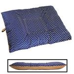 LARGE Bizzy Beds® Dog Bed with Zipper -- Chevron / Tan Two-Tone