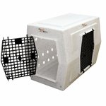 shop Large Double Door Side Entry Kennel Left Open