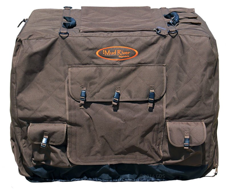 Ruff Tough Kennel Reviews >> Large Extended Brown Dixie Insulated Kennel Cover by Mud River. $135.95 (Save $9.05) FREE ...