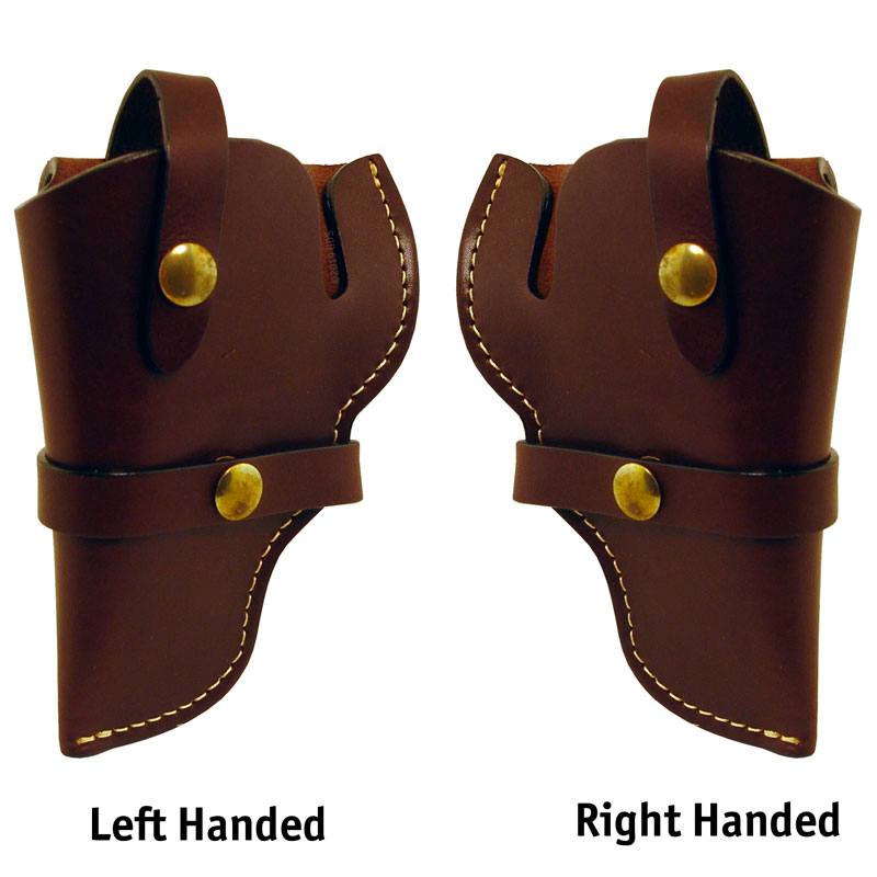 Large Frame Leather Holster Left and Right Comparison