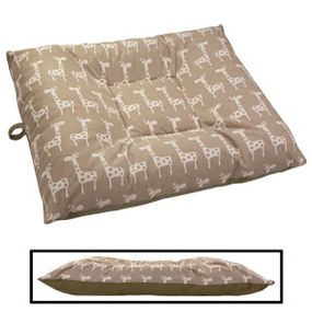 shop LARGE Limited Edition Bizzy Beds® Dog Beds -- Giraffe / Olive Green Two-Tone