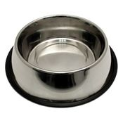 shop Large Stainless Steel No-Tip Dog Food & Water Bowl #8304 -- approx 96 oz.