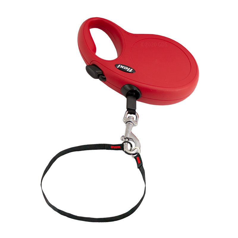Large Red Retractable X-Long Leash Safety Collar