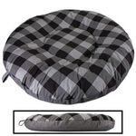 LARGE Round Bizzy Beds® Dog Bed -- Buffalo Black / Black Two-Tone