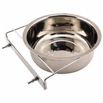 shop Large Stainless Steel Kennel Cup with Bolt Clamp -- approx 88 oz.