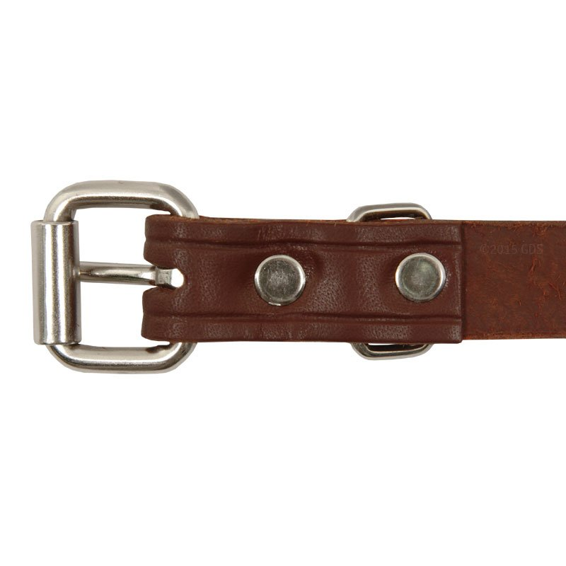 Leather Puppy Collar Buckle Inside Detail