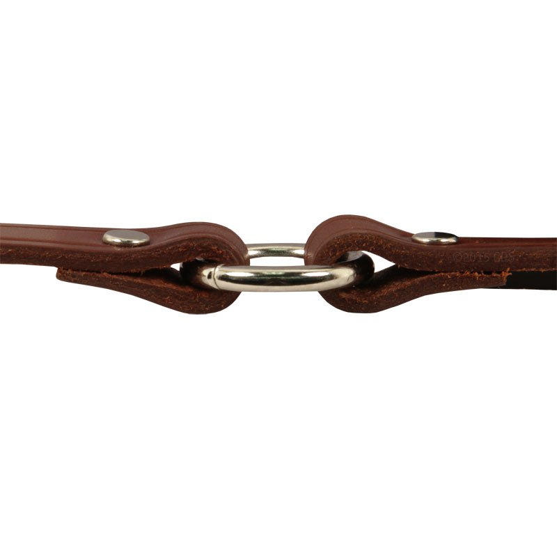 Leather Puppy Collar Center Ring Edge Detail