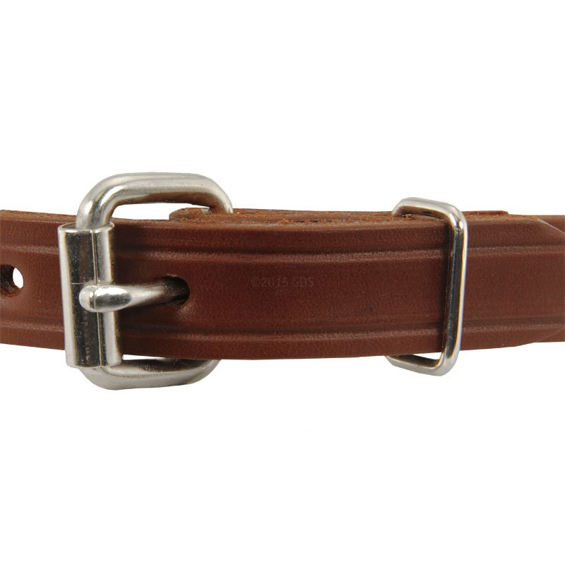 Leather Puppy Collar Front of Buckle Detail